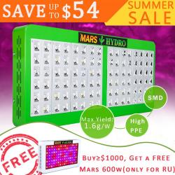 Mars Hydro Reflector 600W LED Grow Light Full Spectrum IR voor Indoor Planten Kas Hydrocultuur Indoor Zaaien en Bloei