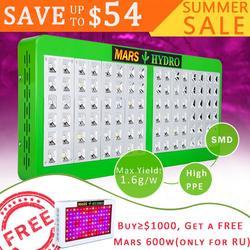 Mars Hydro Reflektor 600W LED Wachsen Licht Full Spectrum IR für Indoor Pflanzen Gewächshaus Hydrokultur Innen Aussaat und Blüte