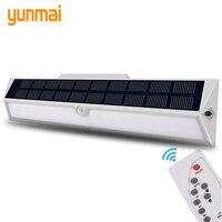 Powered Sonnenlicht Wasserdichte ABS Solar Licht Outdoor Fernbedienung Wand Lampe Motion Sensor Straße Licht 248 Led Gebaut in Batterie