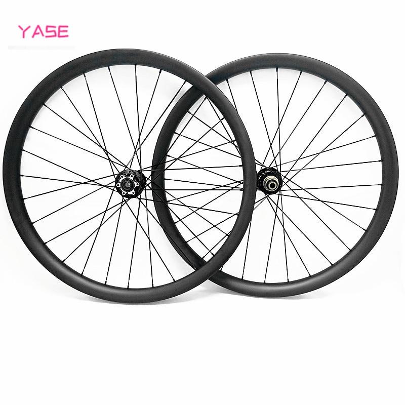 YASE 29er carbon mtb wheelset 40x25mm tubeless aro 29 mtb asymmetry boost NOVATEC D791SB D792SB 110x15 148x12 bike disc wheels