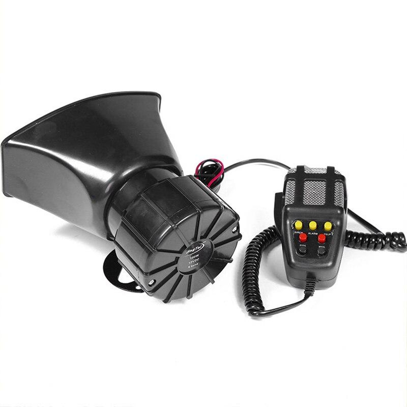 7-Geluid Luid Auto Waarschuwing Alarm Politie Brand Sirene Air Bugle Pa Speaker 12V 100W Sirene Air hoorn Megafoon Auto Hoorn 110DB 4
