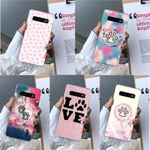 Ruicaica Poot Footprint Patroon Luxe Ontwerp Telefoon Cover Voor Samsung S10 E S9 Plus S6 Rand Plus S7edge S8plus s10 Plus S5(China)