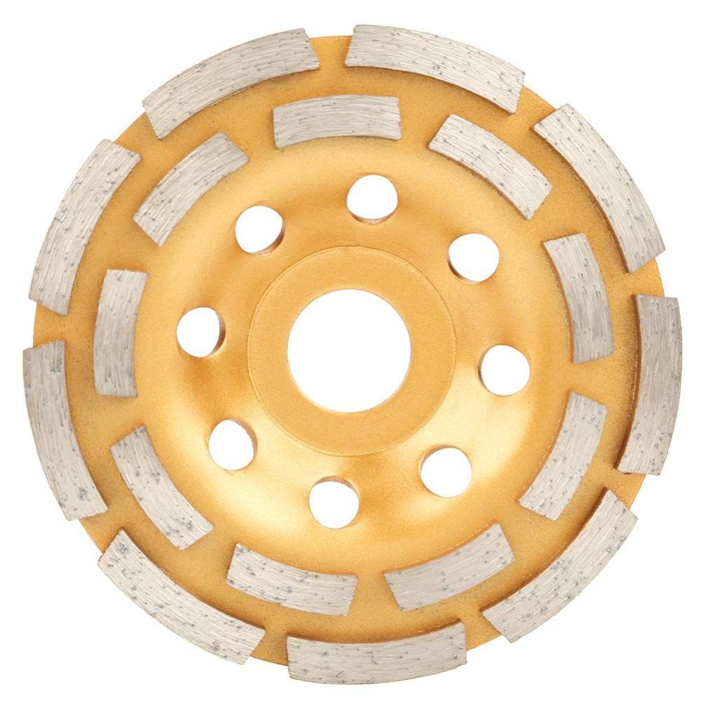 Diamond Grinding Disc 115/125/180mm Diamond Disc Bowl Grinding Cup Double Row Grinding Disc Brick Concrete Cut For Angle Grinder