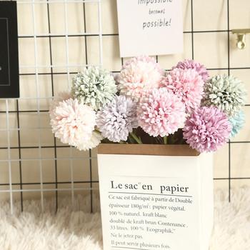 Nieśmiertelny kwiat Multicolor sztuczna sztuczna plastikowa roślina kwiaty dom ogród dekoracje ślubne sztuczne dekoracje kwiatowe tanie i dobre opinie CN (pochodzenie) Sztuczne kwiaty Główka kwiata Na imprezę Z tworzywa sztucznego