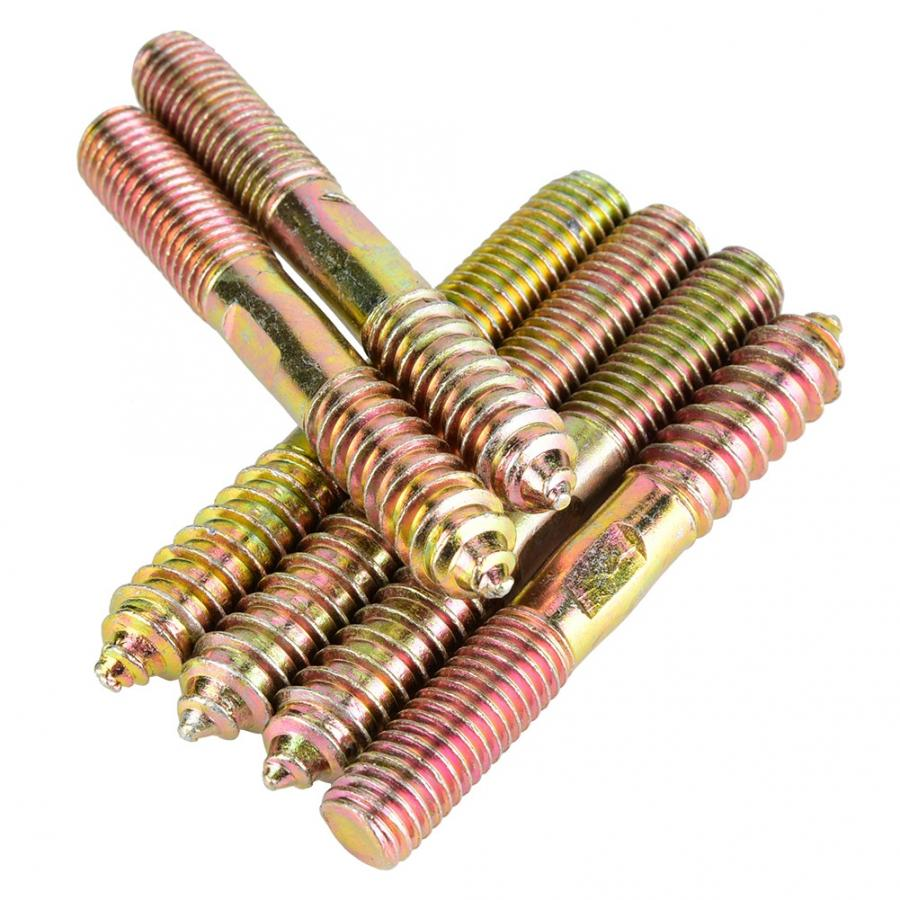 Stainless Self Tapping Screws Dowel Screw Woodworking Furniture Connector Double Ended Screw Tapa Tornillos Brass Screw in Screws from Home Improvement
