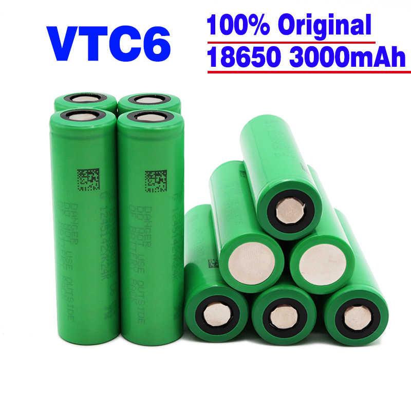 2/3/4/6/10 قطعة 100% الأصلي VTC6 3.7 فولت 3000 مللي أمبير بطارية ليثيوم أيون 18650 vtc6 3000 مللي أمبير/ساعة batera juguداعي de heratoentas linterna