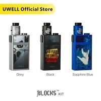 In Stock!!! UWELL 2019 New Arrival BLOCKS Kit with Squonk Mod and NUNCHAKU RDA 90W 15 ml Electronic Cigarette Vape Kit