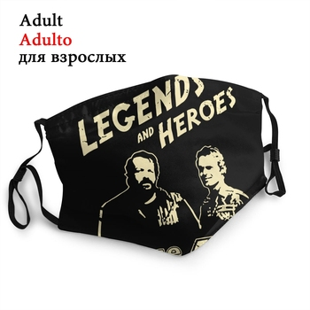 Bud Spencer Legends And Hero Reusable Mouth Face Mask Terence Hill Anti Dust Mask Protection Respirator Mouth Muffle image