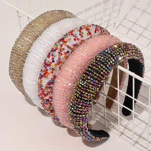 Luxury New Bejeweled Padded Headbands Fashion Luxurious Rhinestones Sponge Hairbands