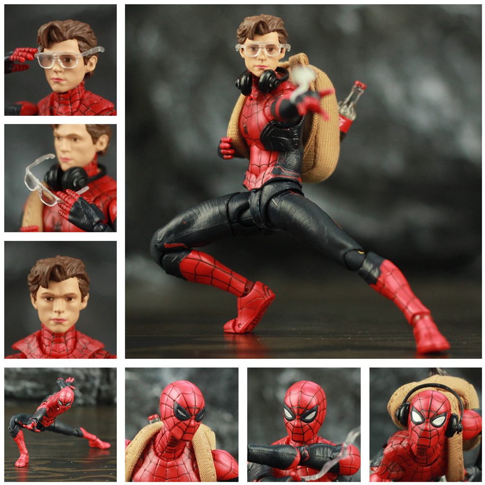 Spider Man Far From Home Tom Holland PVC Action Figure Mafex 047 Marvel New