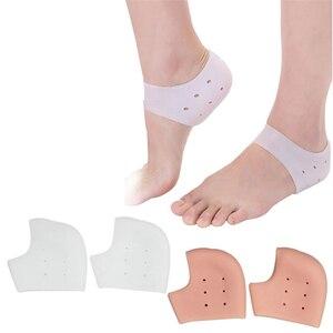 New arriver feet care socks 1pair=2pcs New Silicone Moisturizing Gel Heel Socks Cracked Foot Skin Care Protectors anti cracking