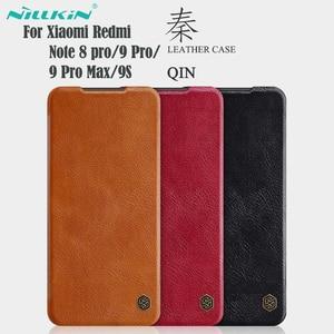 Image 1 - Xiaomi Redmi Note 9S 9 Pro Max Note 8 Pro 플립 케이스 Nillkin Qin 가죽 플립 커버 카드 포켓 케이스 Note9 Pro Phone Bags