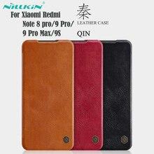 สำหรับXiaomi Redmi Note 9S 9 Pro max Note 8 ProกรณีพลิกNillkin Qinหนังพลิกฝาครอบคู่มือสำหรับNote9 Proกระเป๋า