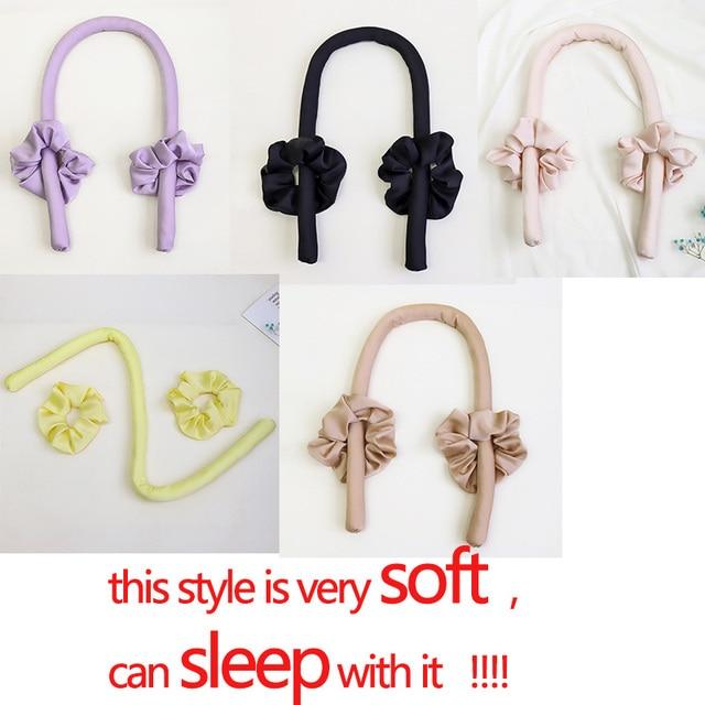 Lystrfac Slik Satin Heatless Hair Curler Headband for Women Hair Wrap Curling Ribbon Girls Scrunchies Headwear Hair Accessories 2