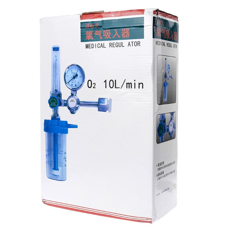 Pressure Regulator O2 Medical Oxygen Inhaler Pressure Reducing Valve Oxygen Meter G5/8
