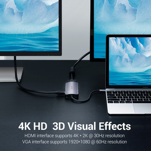 Image 2 - Vention USB HUB C 3.1 분배기 HDMI VGA USB 3.0 PD 어댑터 MacBook Pro 용 USB C 도크 화웨이 메이트 30 Samsung S10 Type c hub