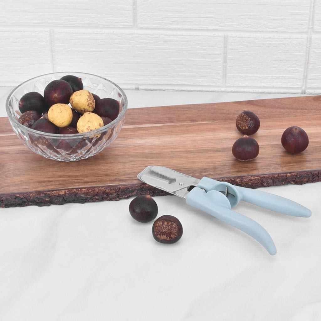 In Acciaio Inox Chestnut Clip di trasporto del Nuovo Creativo di Plastica Multifunzionale Clip di Noce Sheller di Castagno Opener Utensili Da Cucina Gadgets