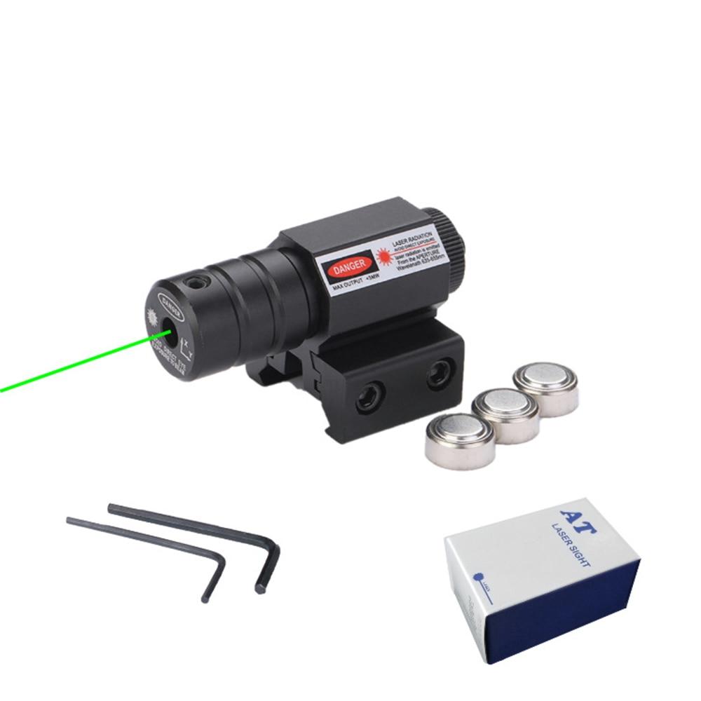 Powerful Tactical Mini Green Dot Laser Sight Scope Picatinny Mount Set For Gun Rifle Pistol Shot Airsoft Rifle Scope Hunting