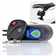 Hot Sale Wireless Alarm Kunci Sepeda Sistem Keamanan dengan Remote Control Anti-Theft Fahrradschloss Bisiklet Kilidi Alarme(China)