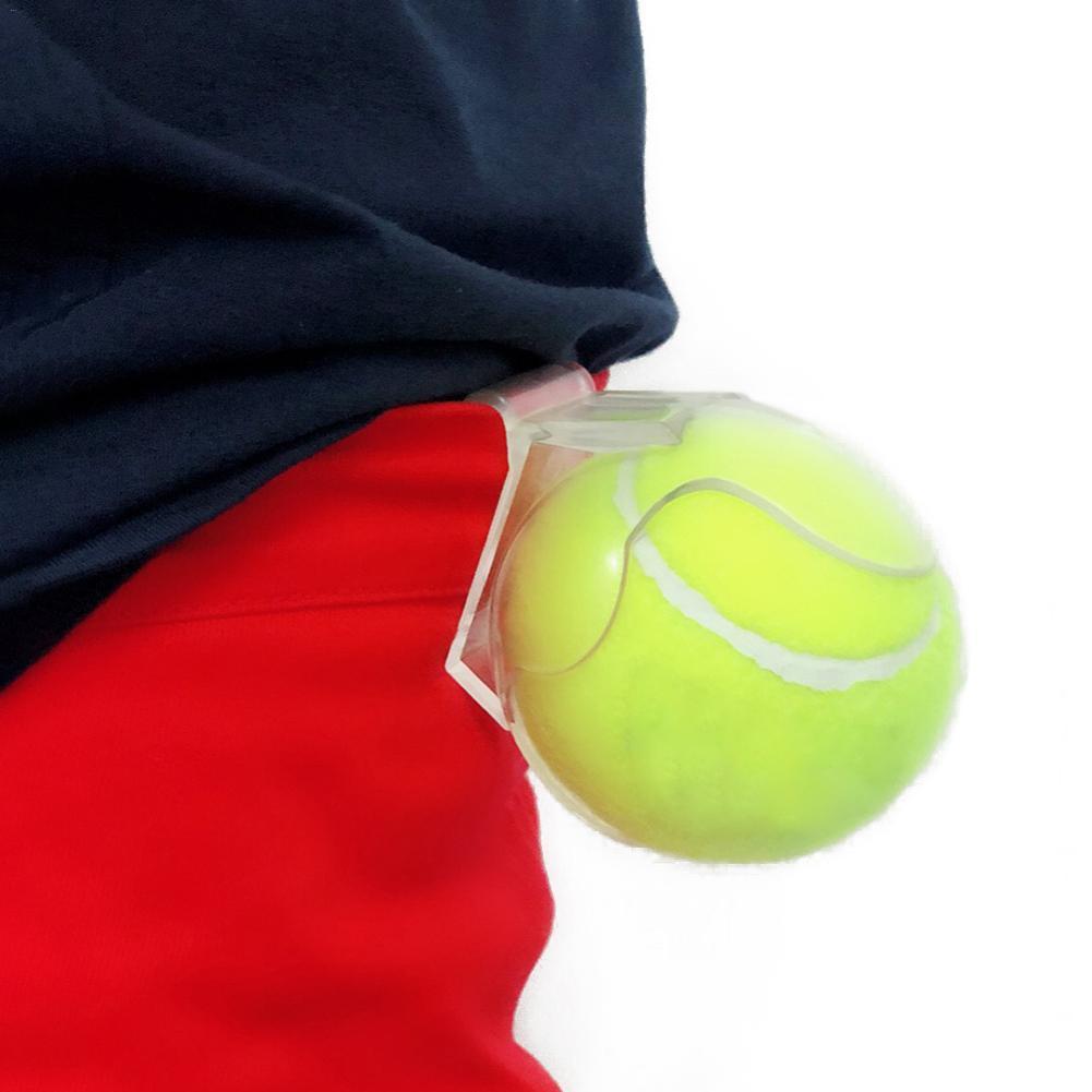 Professional Tennis Ball Holder Clip Transparent Tennis Ball Clip Plastic Tennis Ball Holder Tennis Ball Training Equipment 4