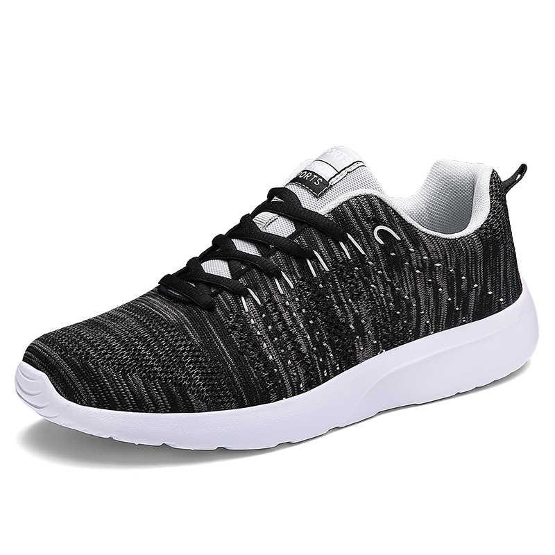 ตาข่ายทอรองเท้าผู้ชายแบบสบายๆฤดูร้อนฤดูร้อนฤดูใบไม้ผลิฤดูใบไม้ร่วง Breathable รองเท้าผ้าใบผู้ชายรองเท้าสเก็ตบอร์ดกีฬารองเท้าผู้ชายแนวโน้มรองเท้า