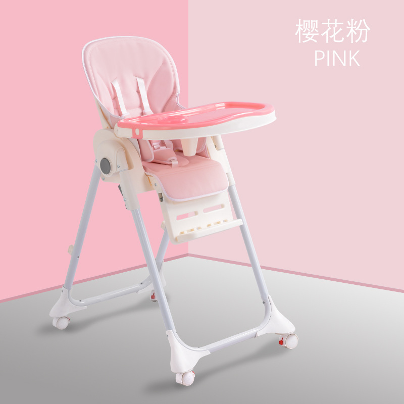 Multifunctional Baby Dining Chair Portable Adjustable Height Child Dining Chair Easy To Fold