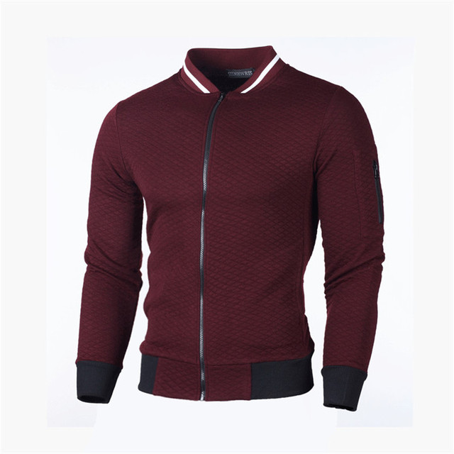 Men Casual Sweatshirt New Solid Color  Polyester