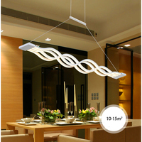 Modern house decoration chandeliers LED indoor lighting black White Wavy ceiling chandelier dining room chandelier lighting