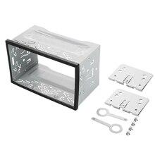 2 Din двойной ISO Din металлический каркас вставки слот радио панель монтажная рама радио высокое качество