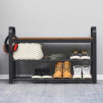 Shoe Rack Storage Organizer Cover Cabinet Shelf Cabinet Shoe Bench Bedroom Living Room Furniture practical wooden shoe cabinet closet storage rack pu seat bench entryway hallway black