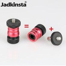 Jadkinsta 삼각대 미니 볼 헤드 볼 헤드 (분리형 플레이트 포함) 마찰 매직 암 모니터 용 1/4 스레드 ~ 1/4 마운트 LED 라이트