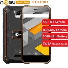 Nomu s10 pro 4g quad core celular 5.0 polegada android 7.0 mtk6737vwt 1.5 ghz 3 gb + 32 gb 8.0mp câmera traseira 5000 mah telefone móvel