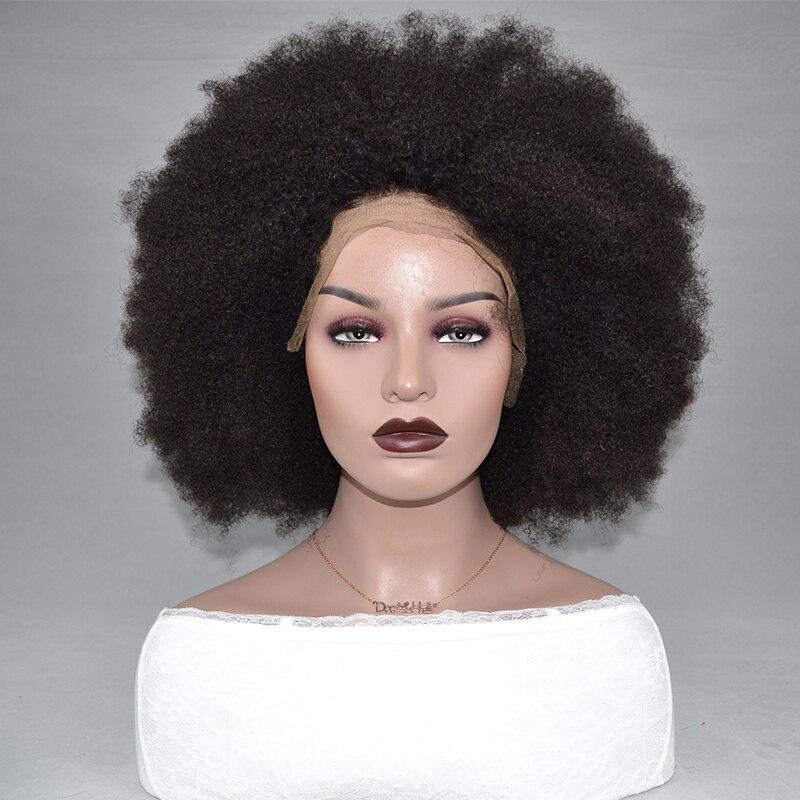 Качающийся лес кружева передние человеческие волосы парики афро кудрявый парик кудрявый вьющиеся человеческие волосы парики предваритель... - 4