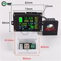DC Spannung Strom Meter Monitor 500V 500A 2,4 Zoll TFT LCD Display Wireless Voltmeter Amperemeter Batterie Tester Kapazität Power