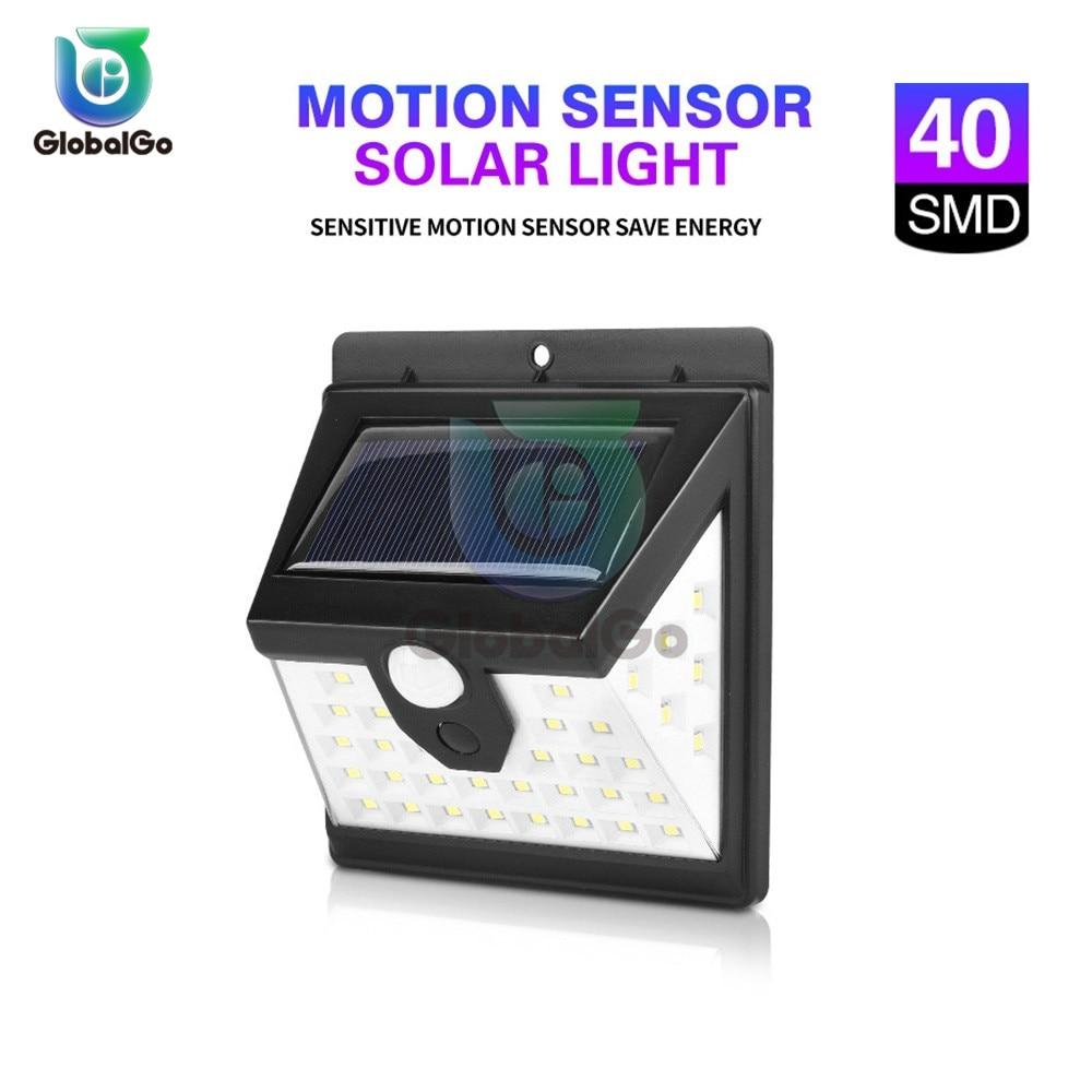 Outdoor Lighting 40LED Solar Wall Light Waterproof Outdoor Garden Lamp LED With PIR Motion Sensor Exterior Light 1200 MAh 25W