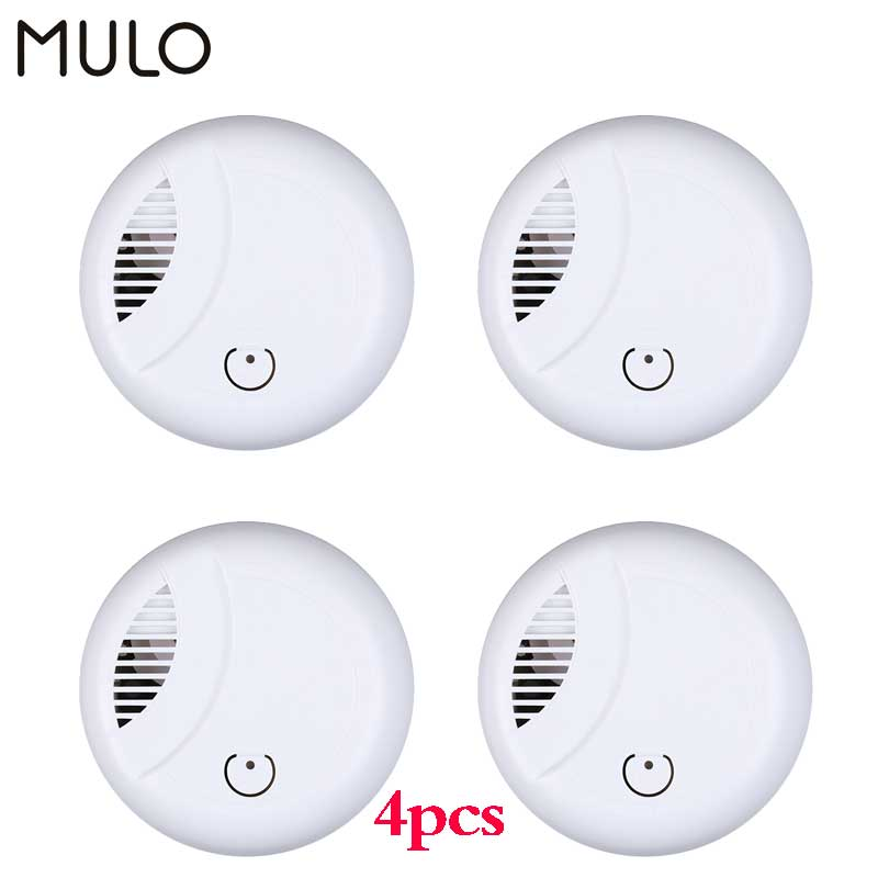 MULO Portable Smoke Detector Fire Safety for Home Hotel School Independent Fire Smoke Sensor Security Alarm Fire Equipment