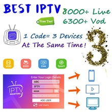 Global IPTV subscription 8000 + live adult Europe Dutch Germany Arabic TV box M3U Android Smart supports 3 devices