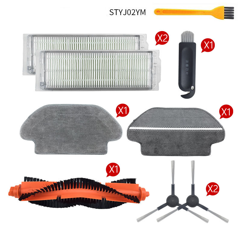 Main Brush Hepa Filter Side Brushes Mop Cloth For Xiaomi Robot Vacuum Cleaner STYJ02YM Conga 3490 Viomi V2 PRO V-RVCLM21B