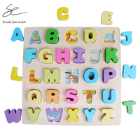 Montessori Wooden Toys Alphabet Puzzles Tangram Jigsaw Board Sorting Educational Early Learning Teaching Aids Toys for Children