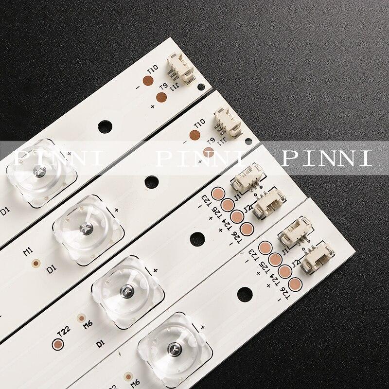 Yeni ve orijinal haier U55A5 U55H3 ışık şeridi led55d7-07 led55d7-08 bir set 14 (12 7 ışıkları + 2 8 ışıkları) 55.7cm lo