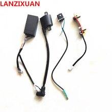 무료 배송 hangkai 2 strok 5 6 hp 아웃 보드/아웃 보드 엔진/보트 모터/인식 코일 점화 시스템