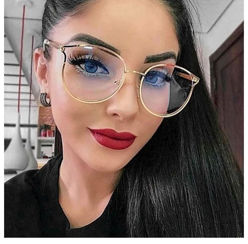 YDO New Round Glasses Frame Women Oversized Clear Lens Optical Glasses Transparent Fashion Ladies Eyeglasses Frame TR90 Eyewear