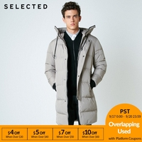 SELECTED New Winter Down Jacket Men's Zipper and Hat Casual Medium and Long Coat Suit S | 418412503