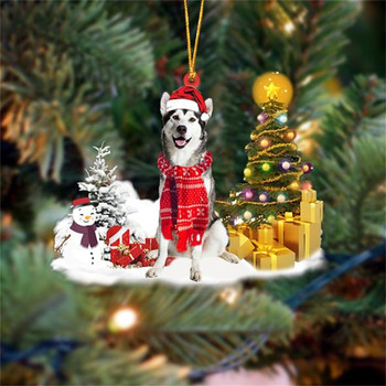 Dog Snowman Ornament  1