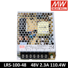 Original MEAN WELL LRS-100-48 85-264VAC To DC 48V 2.3A 110.4W Single Output Switching Power Supply Meanwell LED Driver