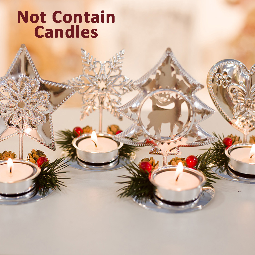 US $1 0 OFF Christmas Candle Holders Red Pine Cone Splice Candlestick Desktop Decoration New Year Craft Festival Gift Party Supplies Candle