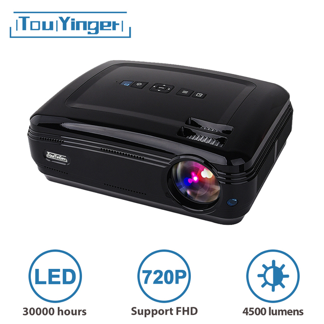$ US $149.03 Touyinger T3 4500 lumens 1280*768 LED data show TV Projector HD beamer VGA USB HDMI home cinema support 1080P Full HD video 2020