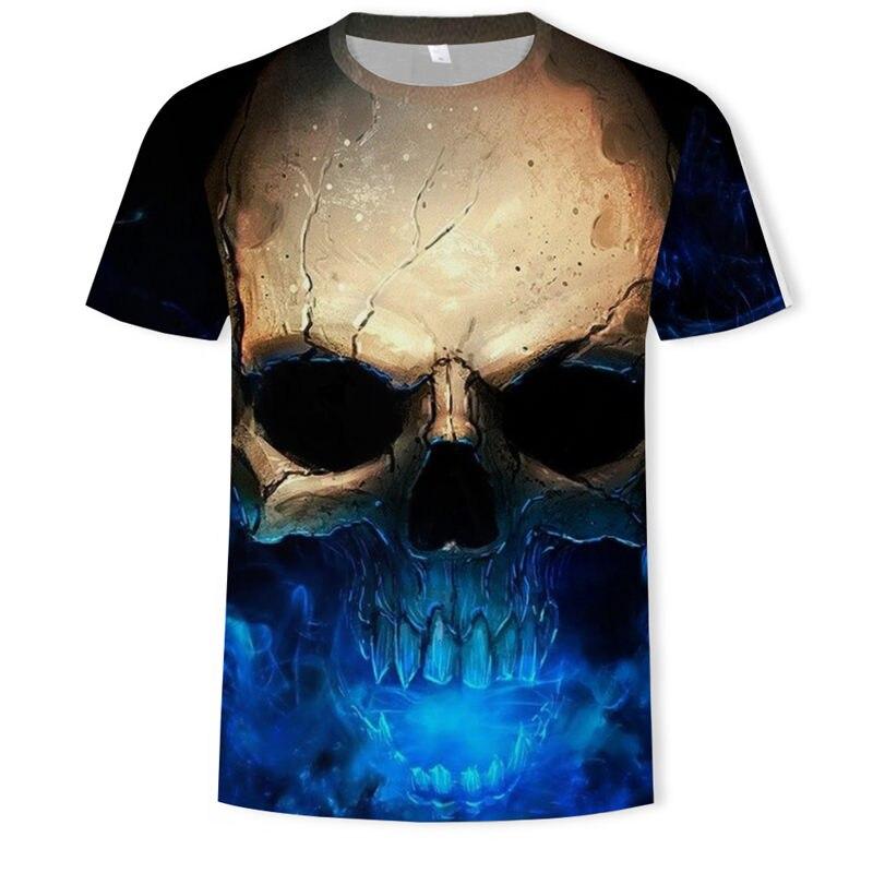 3d футболка с черепом и животными Harajuku, крутая футболка с 3D принтом Грут, Мужская/женская летняя футболка с короткими рукавами, футболка