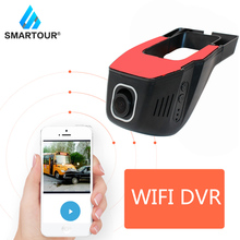 Smartour Dash cam WiFi Car DVR Wireless APP Real HD 1080P 170 Wide Angle With G-Sensor Parking Mode Hidden car camera Recorder sinairy car dash cam with wifi car dvr camera app support ios android system recorder 170 degree super wide angle loop recording