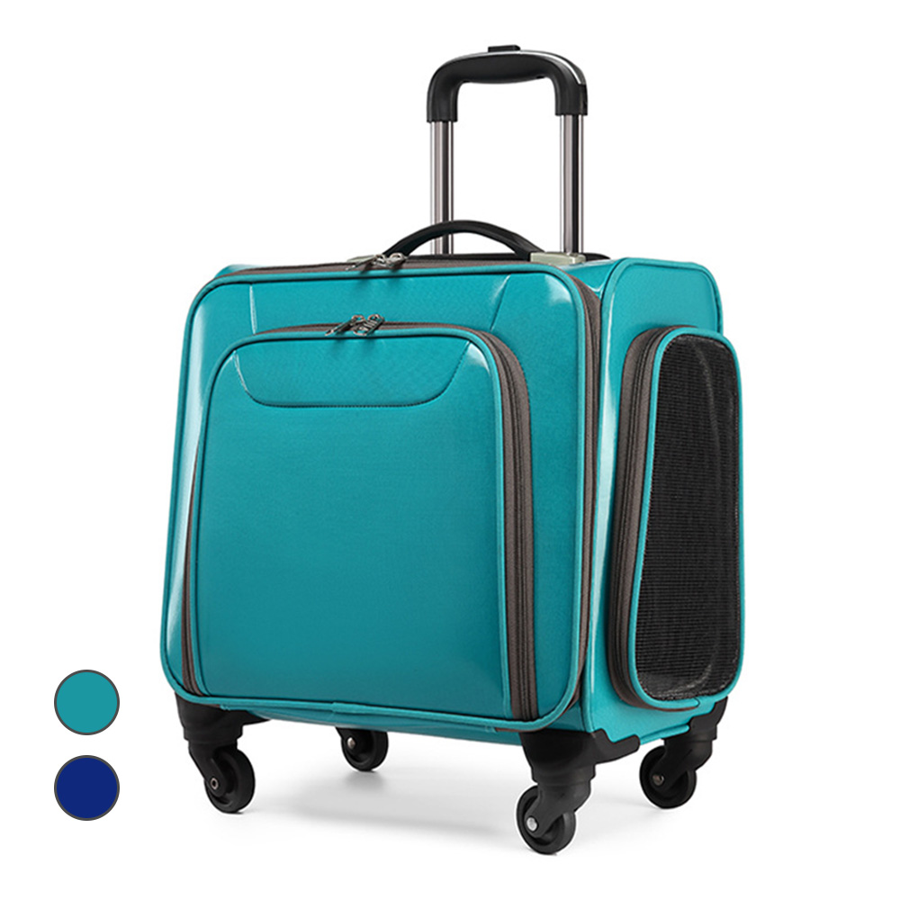 Breathable Dog Cat Carrier Pet Trolley Case Travel Bags For Small Dogs Large Space Carryings For Cats Puppy Chihuahua Stroller